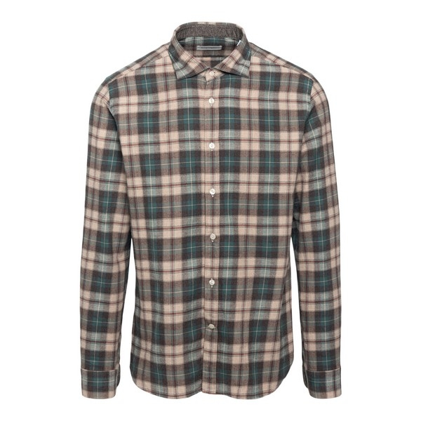 Two-tone checked shirt                                                                                                                                Tintoria mattei NRS front