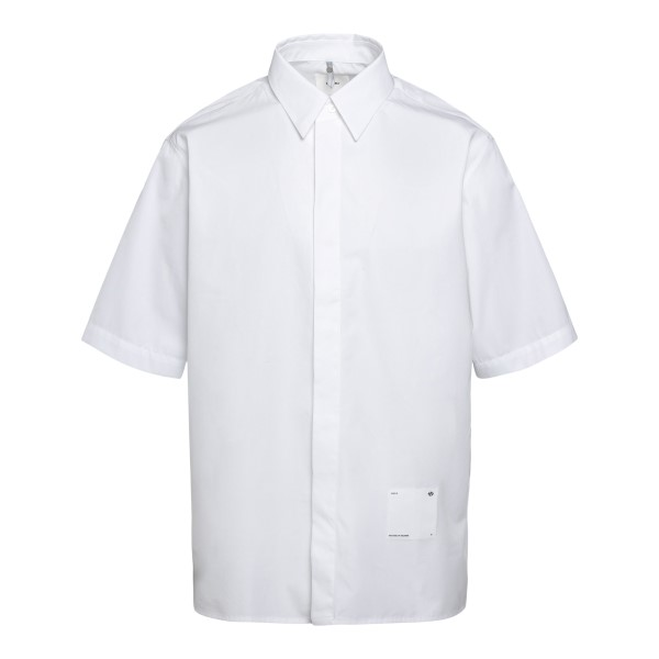 Lightweight white shirt with logo patch                                                                                                               Oamc OAMS601968 back