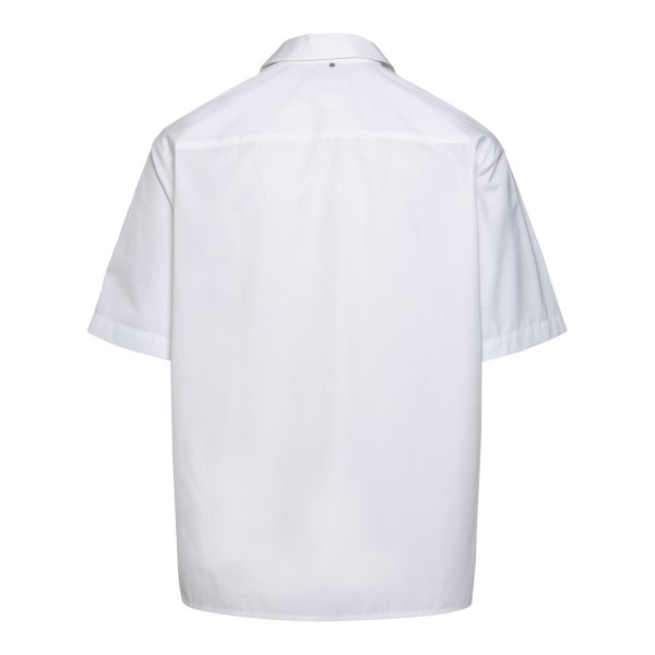 Lightweight white shirt with logo patch                                                                                                                OAMC
