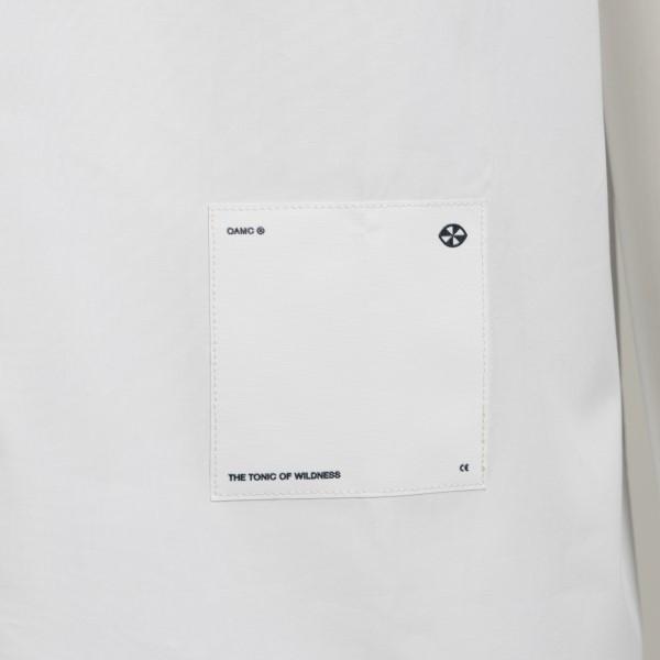 Camicia leggera bianca con patch logo                                                                                                                  OAMC                                               OAMC