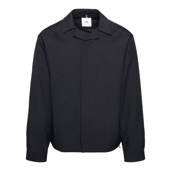 Camicia nera con applicazione grafica                                                                                                                 Oamc OAMS601368 retro