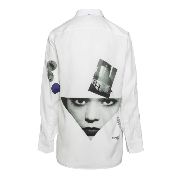 Camicia bianca con stampa volto                                                                                                                        OAMC                                               OAMC