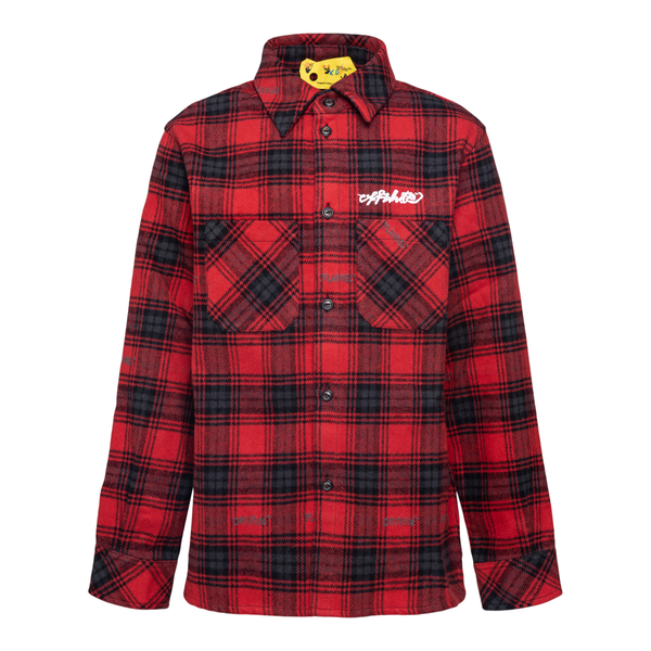 Red checked shirt with Arrows print                                                                                                                    OFF WHITE