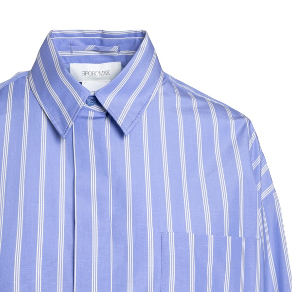 Light blue striped shirt with print                                                                                                                    SPORTMAX