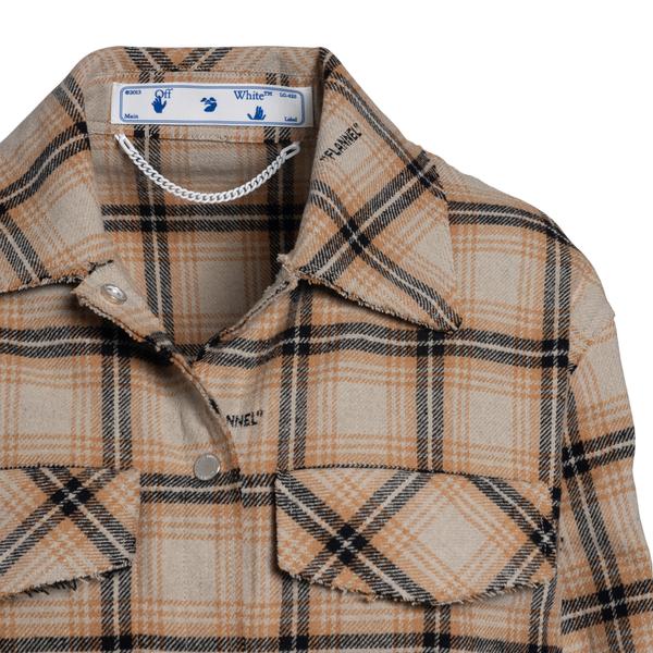 Camicia a quadri con stampa Flannel                                                                                                                    OFF WHITE OFF WHITE