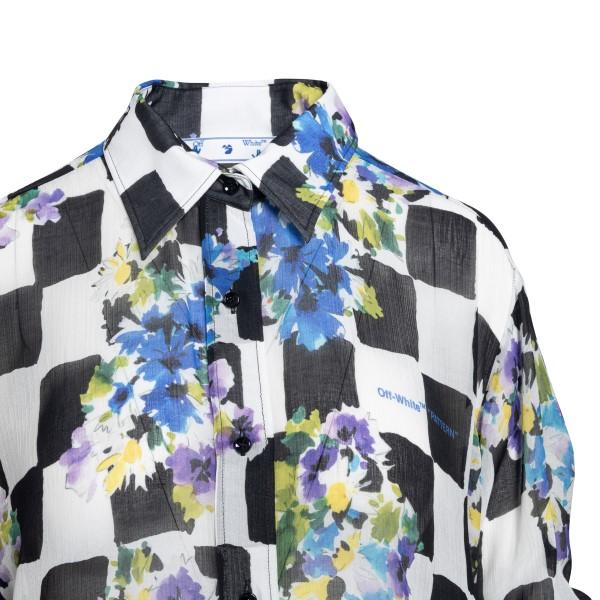 Camicia a quadri con stampa a fiori                                                                                                                    OFF WHITE OFF WHITE