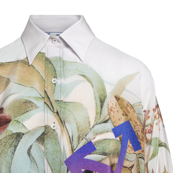 Multicolored shirt with floral pattern                                                                                                                 OFF WHITE