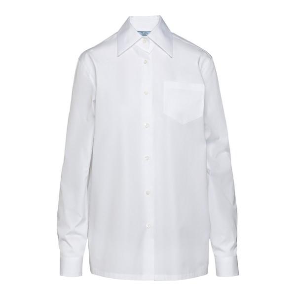 Camicia bianca classica con taschino                                                                                                                   PRADA                                              PRADA