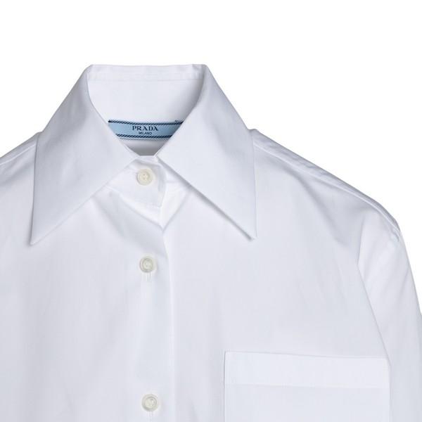 Classic white shirt with pocket                                                                                                                        PRADA