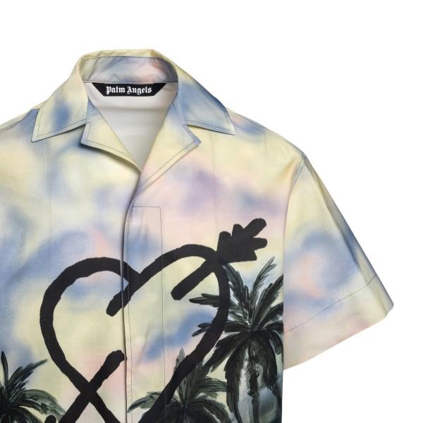 Camicia multicolore con stampa grafica                                                                                                                 PALM ANGELS                                        PALM ANGELS