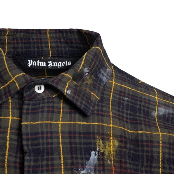 Camicia verde con righe gialle                                                                                                                         PALM ANGELS                                        PALM ANGELS