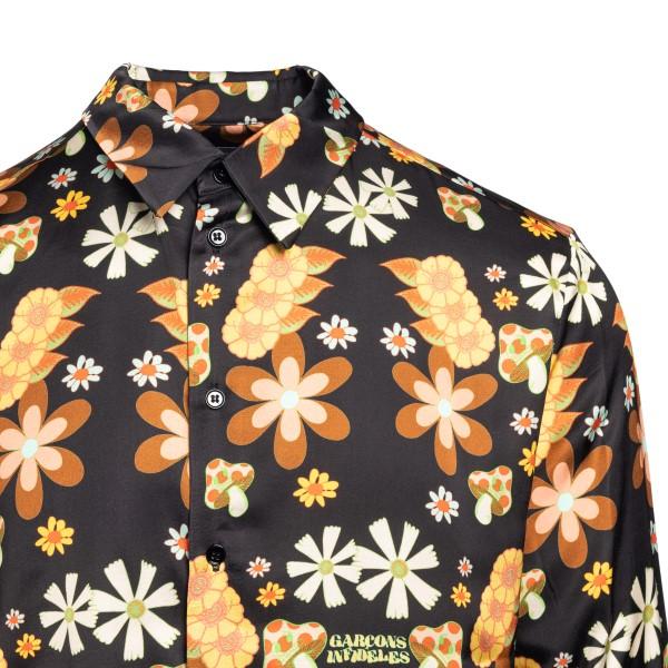 Black floral shirt                                                                                                                                     GARCONS INFIDELES