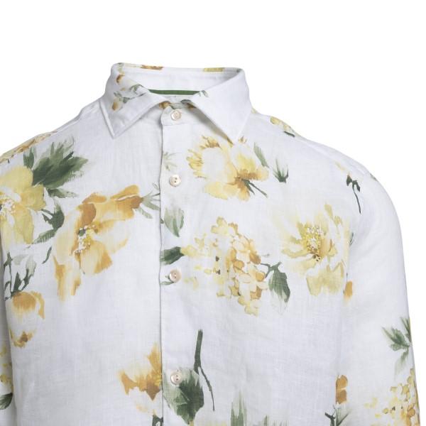 Camicia bianca a fiori                                                                                                                                 TINTORIA MATTEI                                    TINTORIA MATTEI