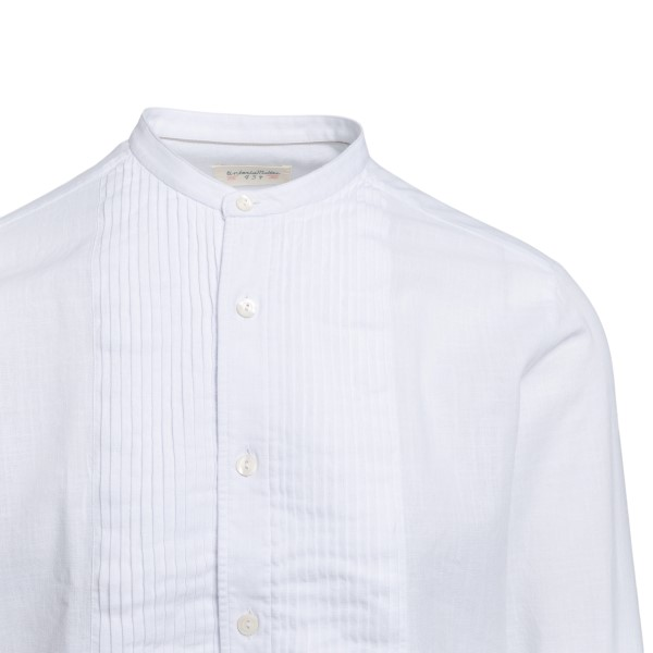 White shirt with pleated detail                                                                                                                        TINTORIA MATTEI