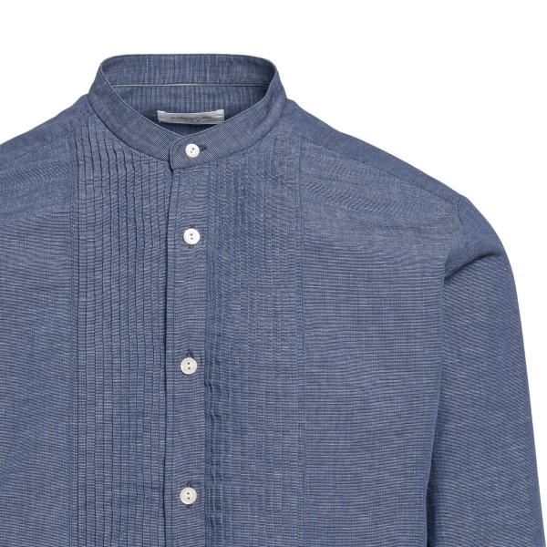 Blue shirt with pleats                                                                                                                                 TINTORIA MATTEI