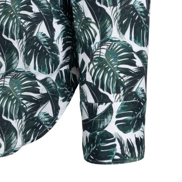 Camicia con foglie tropical                                                                                                                            TINTORIA MATTEI TINTORIA MATTEI