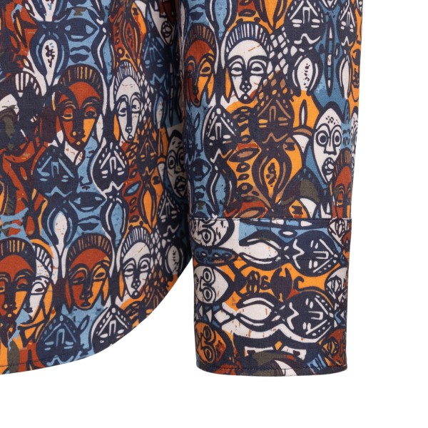 Camicia classica con stampa grafica                                                                                                                    TINTORIA MATTEI                                    TINTORIA MATTEI