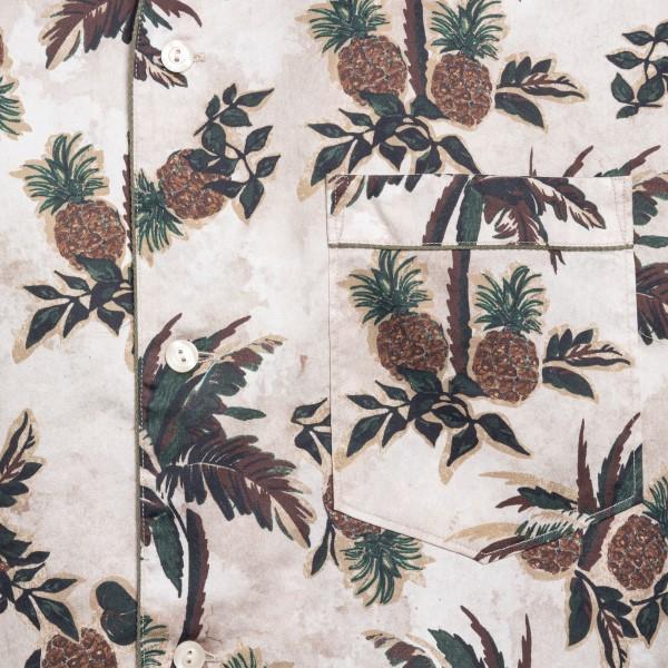 Beige shirt with palm tree print                                                                                                                       TINTORIA MATTEI