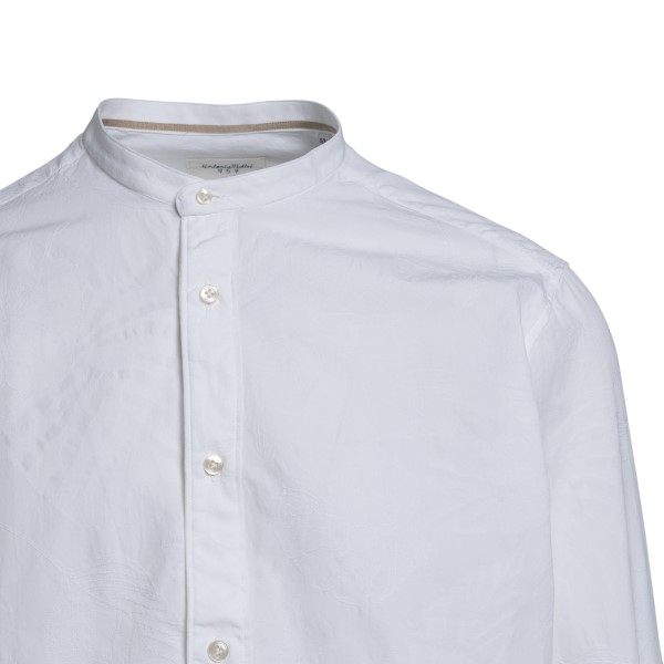 White shirt with mandarin collar                                                                                                                       TINTORIA MATTEI