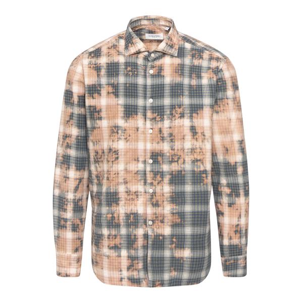 Checked tie dye shirt                                                                                                                                 Tintoria Mattei RKU back