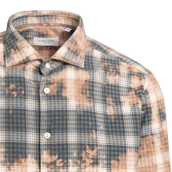Checked tie dye shirt                                                                                                                                  TINTORIA MATTEI