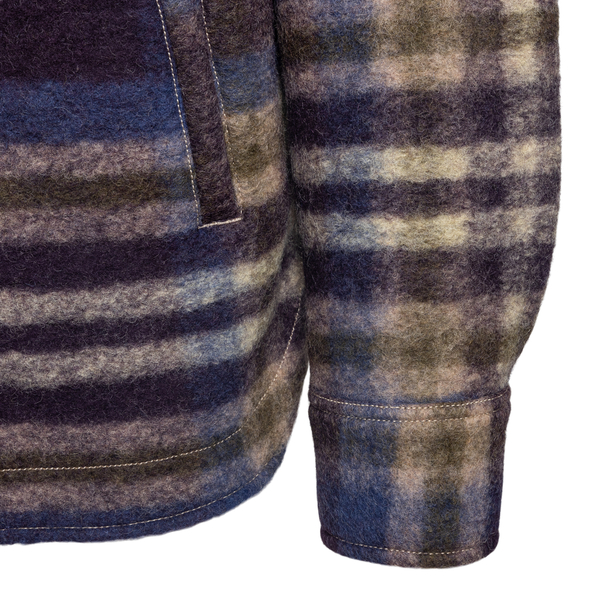 Shirt jacket with stripes and checks                                                                                                                   TINTORIA MATTEI