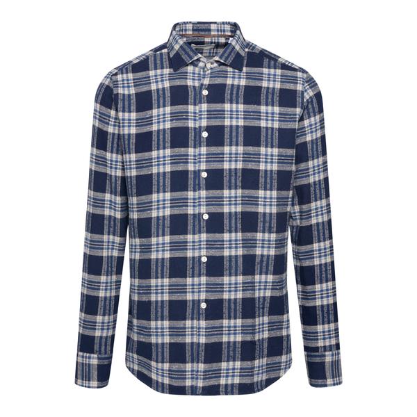 Blue checked shirt                                                                                                                                     TINTORIA MATTEI