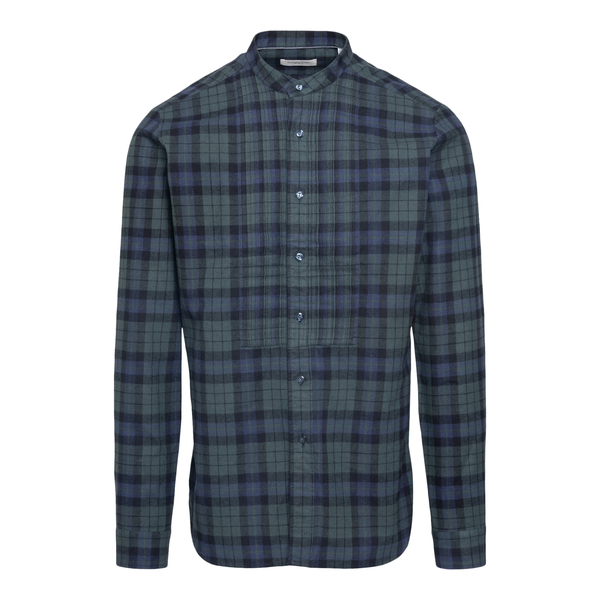 Green and blue checked shirt                                                                                                                          Tintoria Mattei RLB back