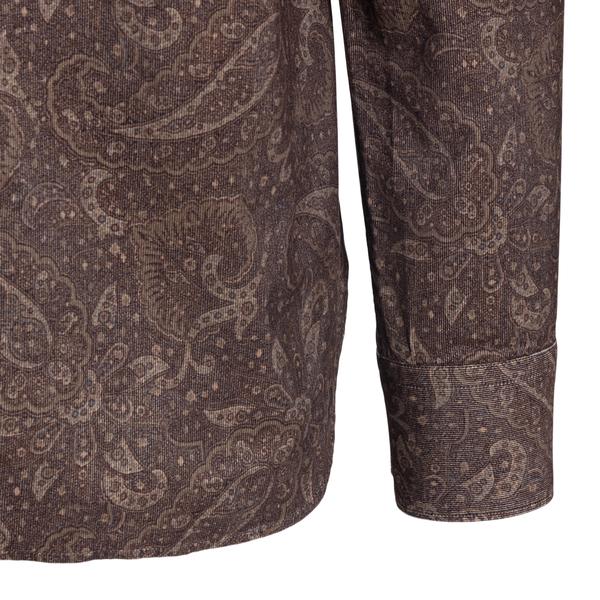 Brown shirt in paisley pattern                                                                                                                         TINTORIA MATTEI