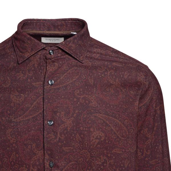 Camicia rossa a motivo paisley                                                                                                                         TINTORIA MATTEI TINTORIA MATTEI