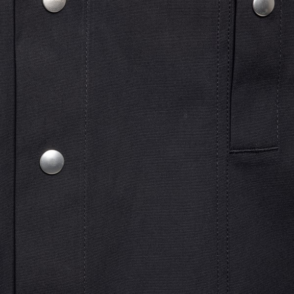 Long black shirt with snap buttons                                                                                                                     RICK OWENS