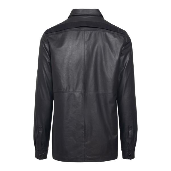 Camicia in pelle nera con zip sul retro                                                                                                                RICK OWENS                                         RICK OWENS