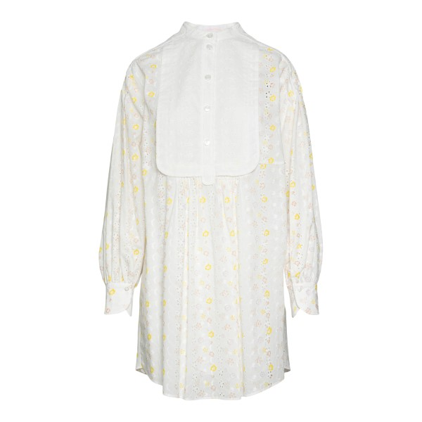 White shirt dress with flowers                                                                                                                         SEE BY CHLOE