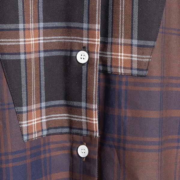 Asymmetric checked shirt                                                                                                                               LOEWE