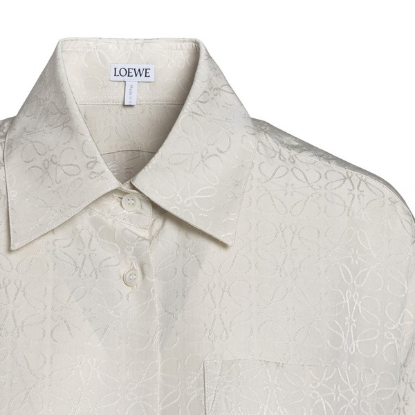 Long white shirt with all-over logo                                                                                                                    LOEWE