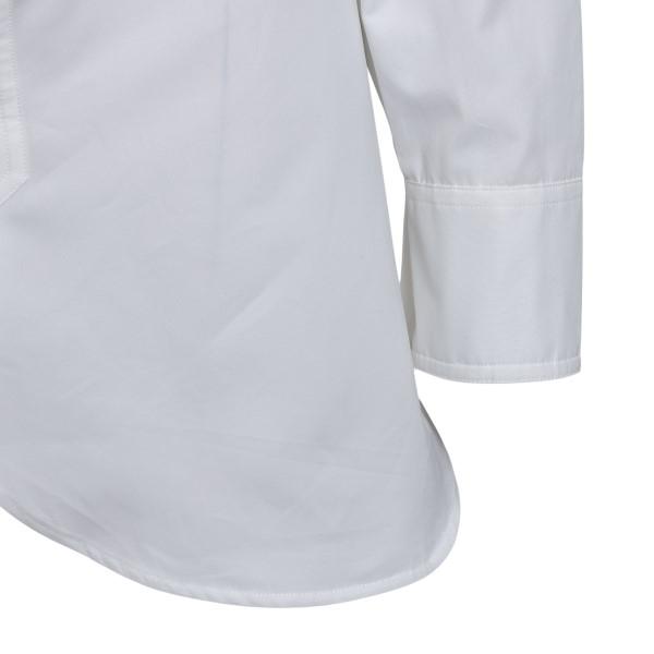 White shirt with curved hem                                                                                                                            MAISON MARGIELA