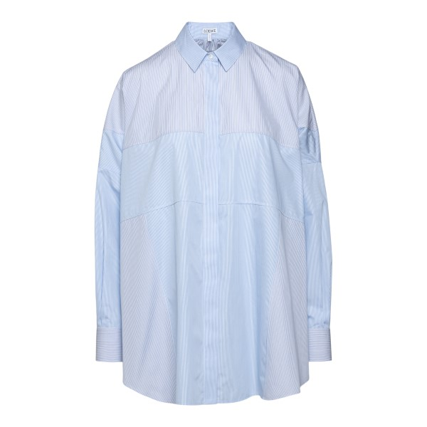 Camicia a righe azzurra oversize                                                                                                                      Loewe S540Y05W02 retro