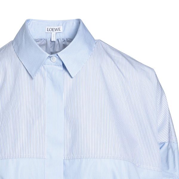 Oversized light blue striped shirt                                                                                                                     LOEWE
