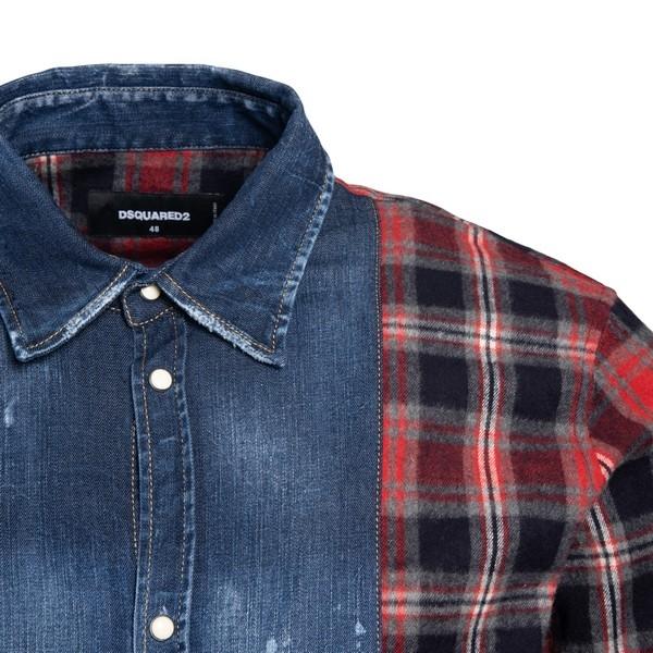 Paneled fabric shirt                                                                                                                                   DSQUARED2