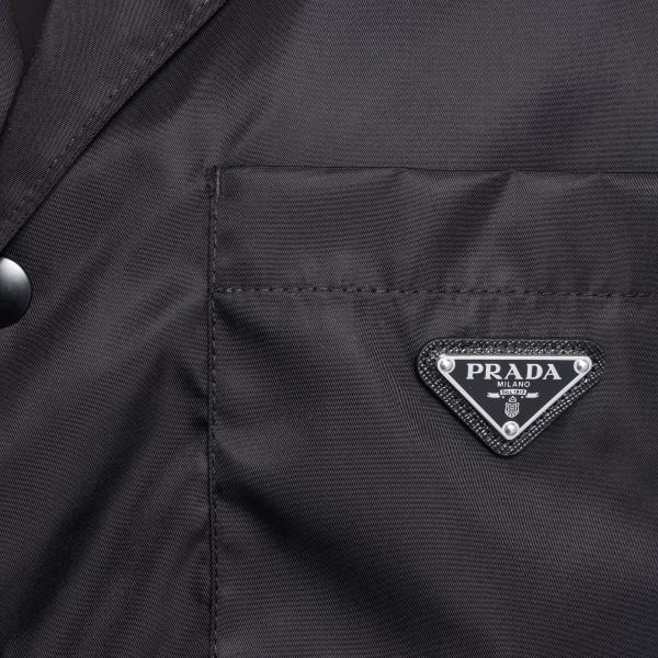 Camicia nera con placca logo                                                                                                                           PRADA                                              PRADA