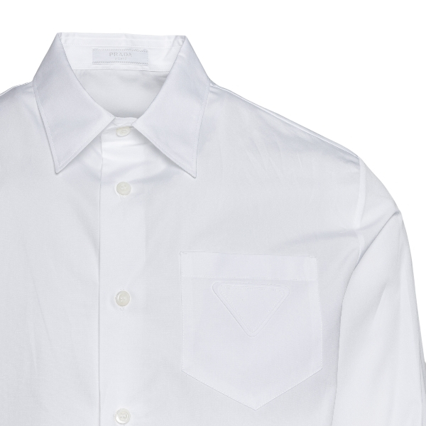 White shirt with patch                                                                                                                                 PRADA