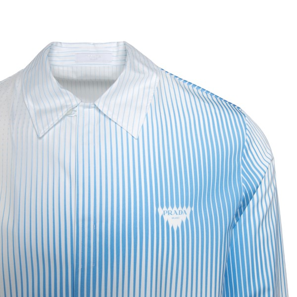 White shirt with blue striped pattern                                                                                                                  PRADA