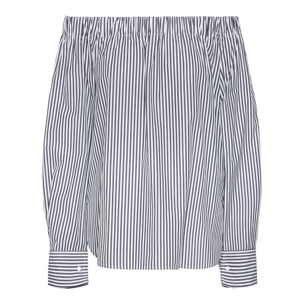 Striped blouse with bare shoulders                                                                                                                     MAX MARA