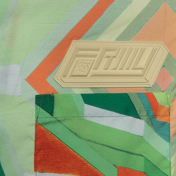 Green shirt with abstract print                                                                                                                        FORMYSTUDIO
