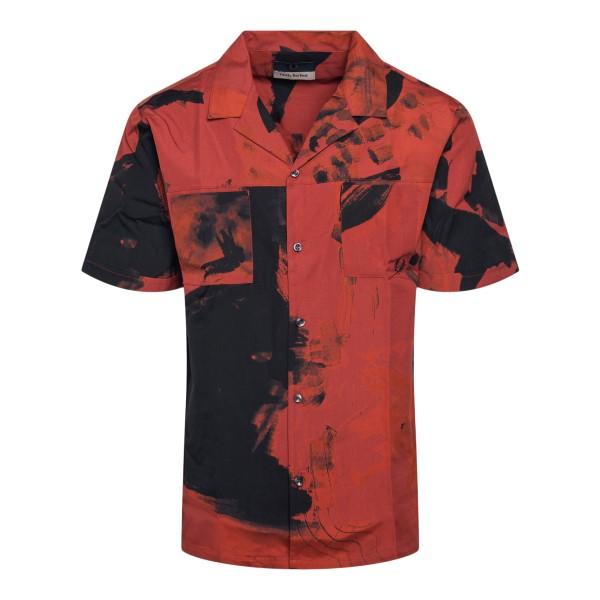 Camicia rossa con stampa astratta                                                                                                                      FRED PERRY                                         FRED PERRY