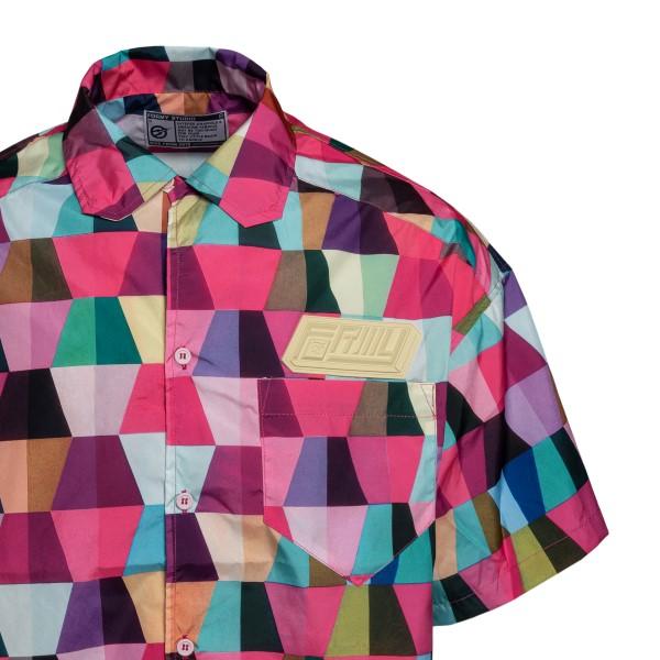 Fuchsia shirt with geometric print                                                                                                                     FORMYSTUDIO