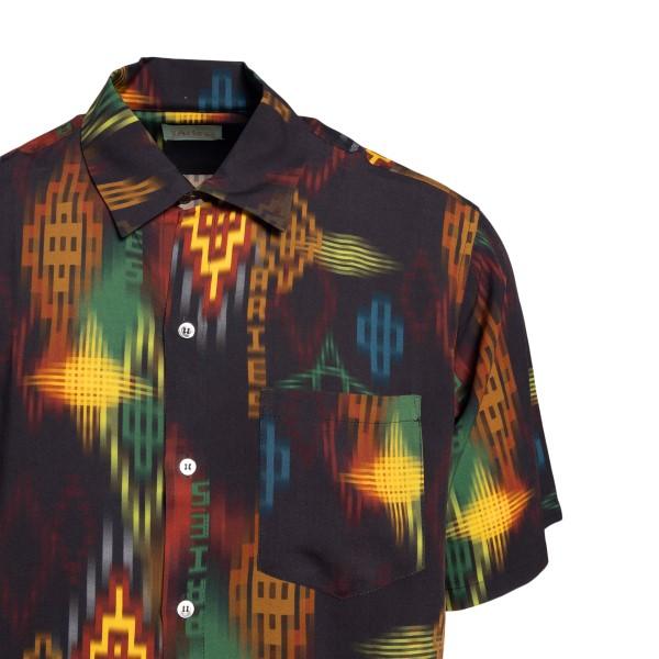 Camicia nera con motivo geometrico                                                                                                                     ARIES                                              ARIES