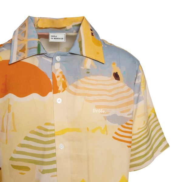Yellow shirt with all-over print and logo                                                                                                              DROLE DE MONSIEUR