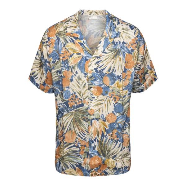Camicia a fantasia floreale con ricamo logo                                                                                                           Drole De Monsieur SS21SH004 retro