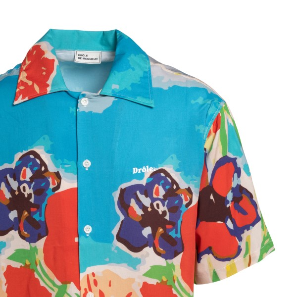 Multicolored patterned shirt with logo                                                                                                                 DROLE DE MONSIEUR